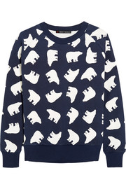 Printed cotton-terry sweatshirt