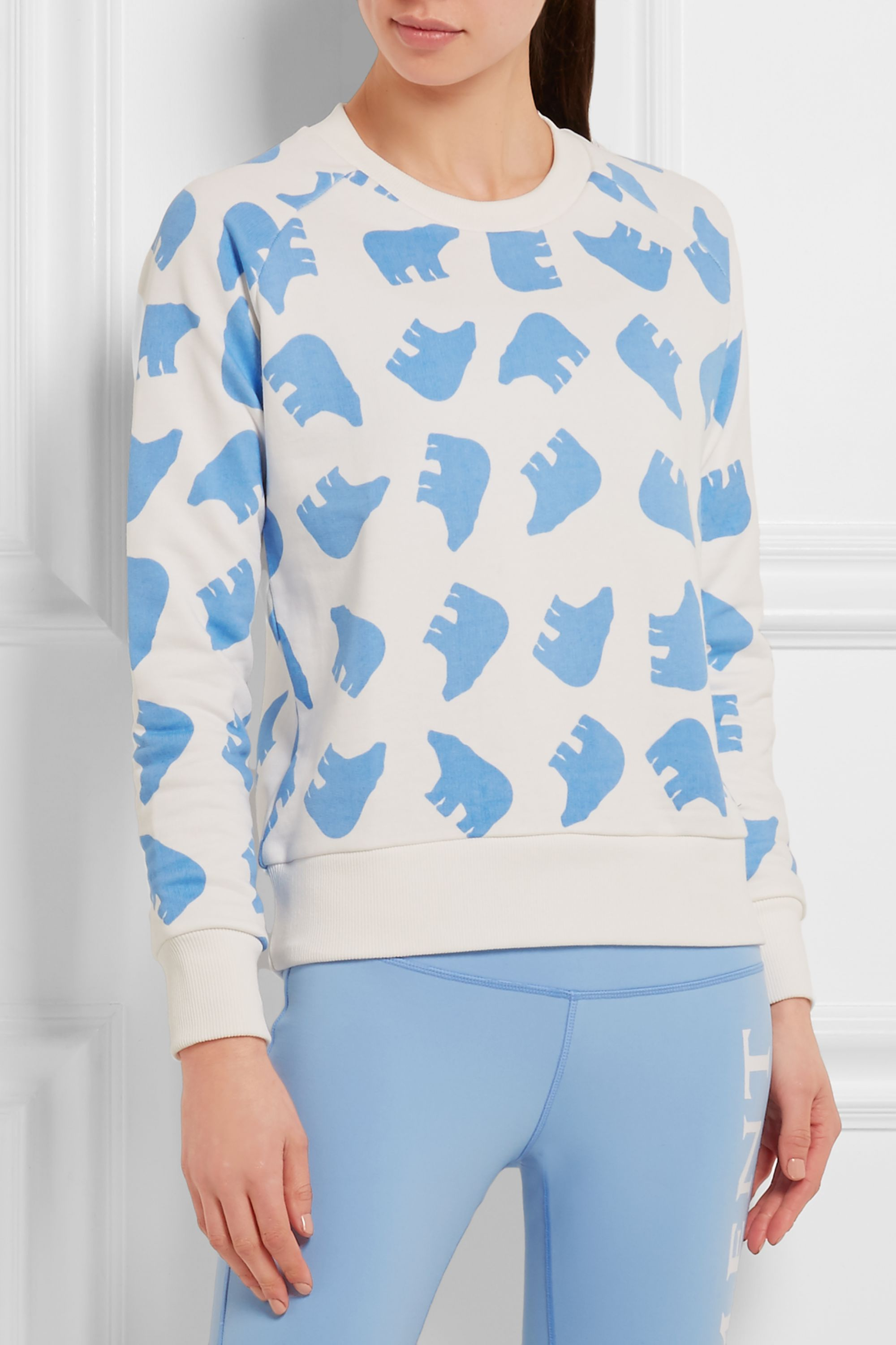 Perfect Moment Printed cotton-terry sweatshirt