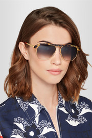 Sheriff&Cherry Miami aviator-style tortoiseshell acetate and gold-tone sunglasses