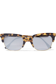 Gozo D-frame tortoiseshell acetate and gold-tone sunglasses