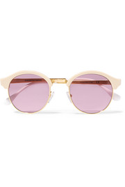 Sheriff&Cherry St Barts round-frame acetate and gold-tone sunglasses