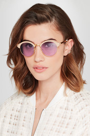St Barts round-frame acetate and gold-tone sunglasses