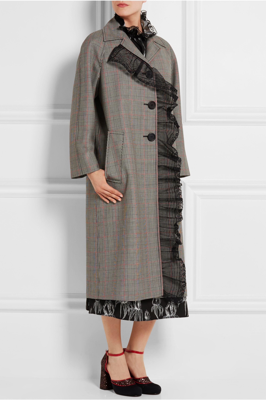 Miu Miu Houndstooth wool and mohair-blend coat