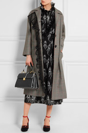 Miu Miu Houndstooth wool and mohair-blend coat