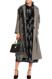 Miu Miu Ruffled printed satin dress
