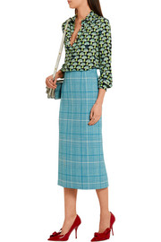 Miu Miu Checked wool pencil skirt