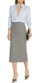 Miu Miu Checked wool and mohair-blend pencil skirt