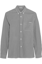 Gingham cotton-poplin shirt