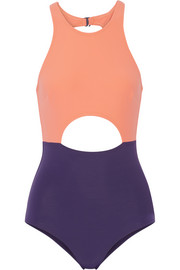 Vera cutout color-block swimsuit