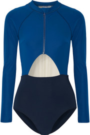 Kelly cutout color-block rash guard