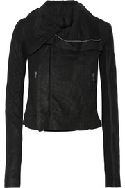 Rick Owens Blister washed-leather biker jacket