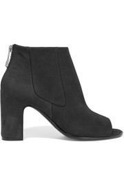Haussmann perforated suede ankle boots
