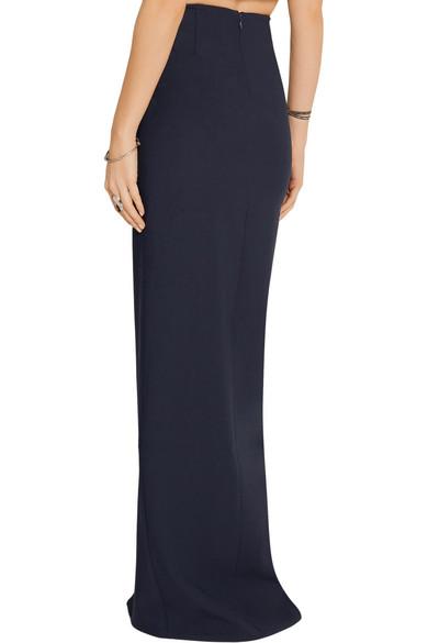 elizabeth and avita split stretch ponte maxi skirt
