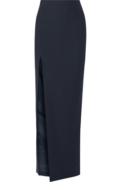 Avita Split Stretch-Ponte Maxi Skirt
