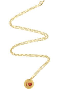 Marie-Hélène de Taillac22-karat gold heart-embellished pendant
