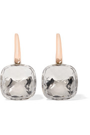 Nudo Classic 18-karat rose gold topaz earrings