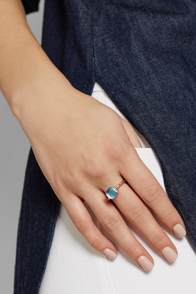 Pomellato Nudo Petit Ring in White and Rose Gold with