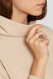 Nudo Classic 18-karat rose gold Rose de France amethyst ring
