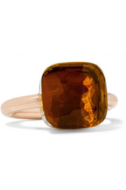 Nudo Maxi 18-karat rose gold quartz ring