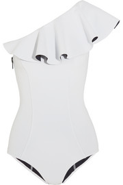 Arden ruffled one-shoulder swimsuit