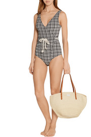 Lisa Marie Fernandez Yasmin plaid seersucker swimsuit
