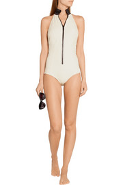 Lisa Marie Fernandez Lisa Marie ribbed cotton-blend swimsuit