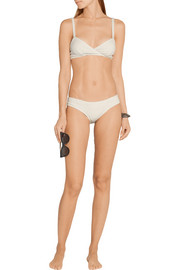 Lisa Marie Fernandez Yasmin ribbed cotton-blend bikini