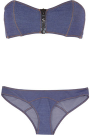 Lisa Marie Fernandez Lauren stretch-denim bandeau bikini