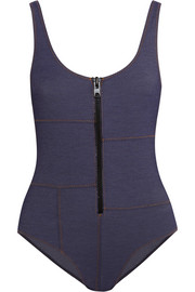 Jasmine stretch-denim swimsuit