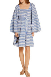 Lisa Marie Fernandez Striped cotton-blend gauze mini dress