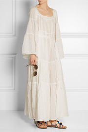Lisa Marie Fernandez Cotton-blend voile maxi dress
