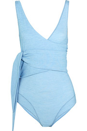 Lisa Marie Fernandez Dree Louise stretch-denim wrap swimsuit