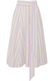 Lisa Marie Fernandez Striped seersucker midi skirt
