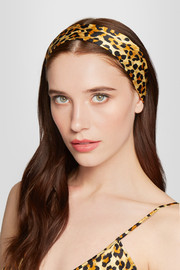 Charlotte Olympia + Agent Provocateur leopard-print silk-satin headscarf