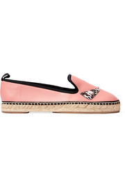 Fendi Bag Bugs python-trimmed leather espadrilles