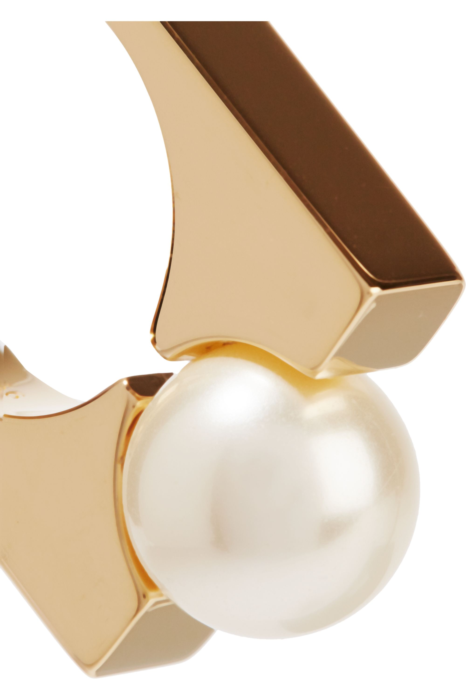 Chloé Darcey goldfarbener Ring mit Swarovski-Perle