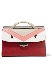 Fendi Demi Jour paneled textured-leather tote