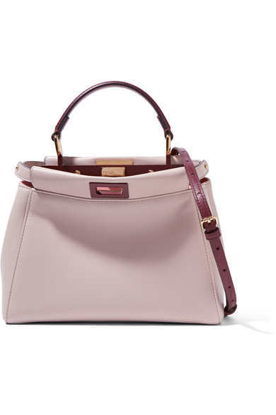 dd788071b985 Fendi. Peekaboo mini leather shoulder bag