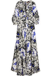 Duro Olowu Zanzibar ruffled floral-print silk-satin maxi dress