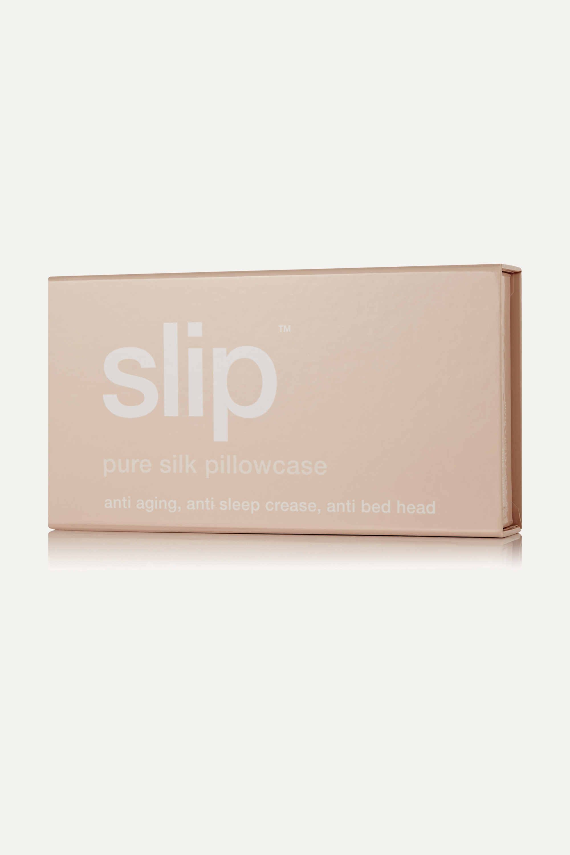 Slip Embroidered silk king pillowcase