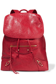 Classic Traveller textured-leather backpack