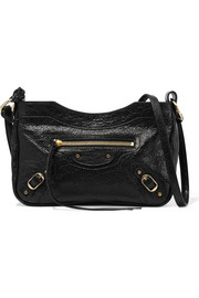 Classic Hip textured-leather shoulder bag