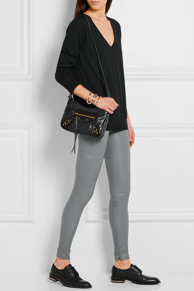 eb931037c4 Balenciaga | Classic Hip textured-leather shoulder bag | NET-A ...
