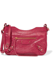 Balenciaga Classic Hip textured-leather shoulder bag