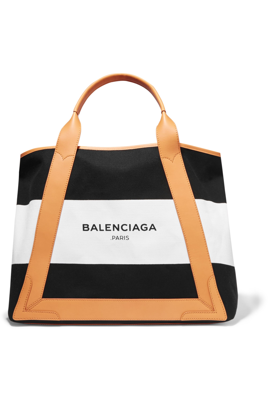 Balenciaga Cabas leather-trimmed canvas tote
