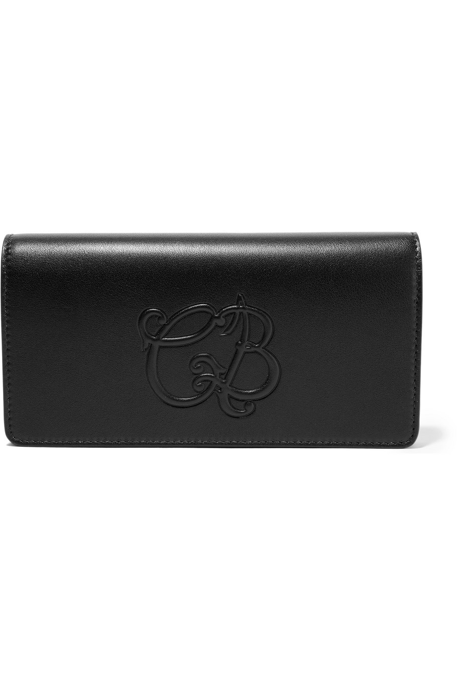 Balenciaga Essential Money Textured-Leather Wallet, Black, Women's