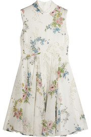 Hambledon floral-print silk-georgette dress