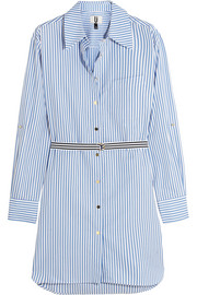 Dorney striped cotton-poplin shirt dress