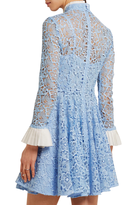 Topshop Unique Taplow guipure lace mini dress