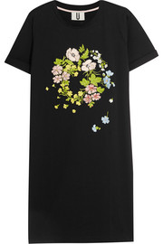 Bisham embroidered cotton-jersey T-shirt dress